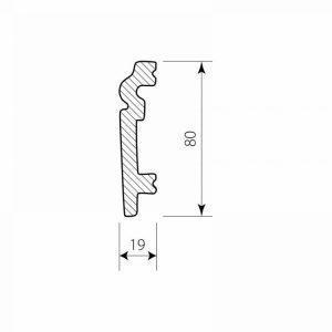PF 0208 Decor System Mech Listwa do paneli wykończeniowa poliuretanowa DSP03
