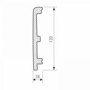 PF 0112 Decor System Mech Listwa do wykończenia paneli DSP04