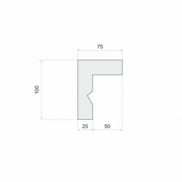 LKO3 Decor System Listwa do zabudowy karnisza LKO3