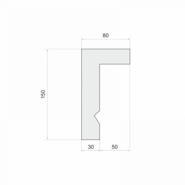 LKO3A Decor System Listwa do zabudowy karnisza LKO3A wysokość 15 cm