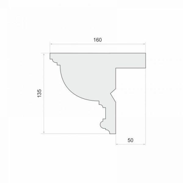 LKO10 Decor System Listwa do zabudowy karnisza LKO10