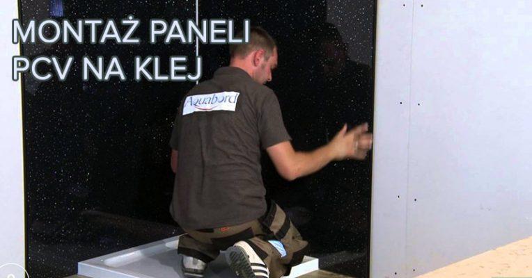 Montaż paneli ściennych PCV na klej film