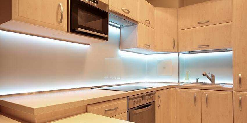 montaż Taśmy LED w kuchni